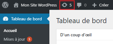 Icone mise à jour WordPress